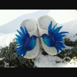 """Тапочки """"Синяя птица"""""""