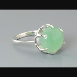 """Кольцо """"Корона"""" с зеленым кварцем"""