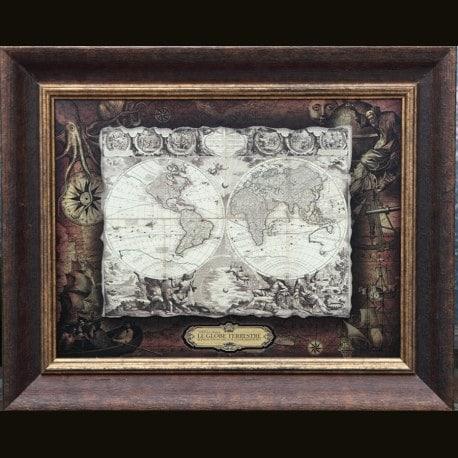 Карта кожаная LE GLOBE TERRESTRE