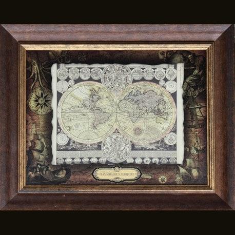 Карта кожаная Planisphaerium Terrestre (Zurner Adam Friedrich)