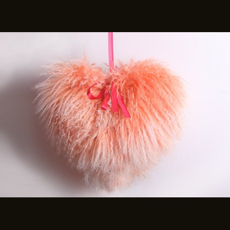 "Подушка ""Сердце"" персиковое"