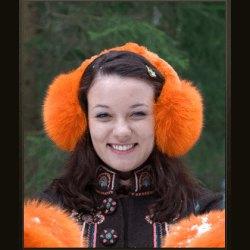 """Наушники """"Песец"""" оранжевый"""