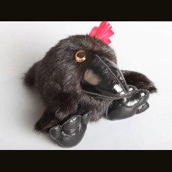 """Сувенир """"Ворона"""" малая черная"""