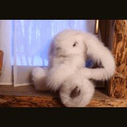 "Сувенир ""Заяц"" большой белый"