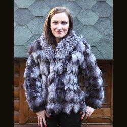 Куртка женская из чернобурки