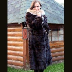 "Шуба женская ""Балон"" с капюшоном"