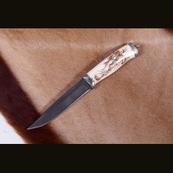 "Нож ""Стандарт. Тигр"" пирография"