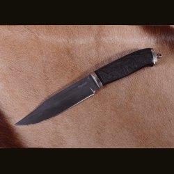 "Нож ""Финский-2"", резьба на рукояти - лошадь"