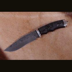 """Нож """"Охотник-1"""", резьба на рукояти Лев"""
