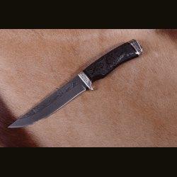"""Нож """"Лунь"""", резьба на рукояти Рысь"""