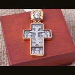 """Крест нательный """"Распятие Господа нашего Иисуса Христа, Господь Вседержитель"""""""