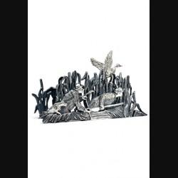 Салфетница «Охота на уток»