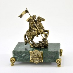 "Статуэтка ""Георгий Победоносец"" на камне"