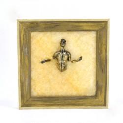 """Картина-панно из камня оникс """"Проходящий сквозь стену"""""""