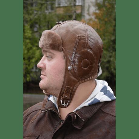 """Шлем """"Пилот"""" коричневый"""