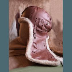 """Шлем """"Летный 30-х гг"""" цвет виски"""