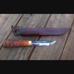 Нож финский в чехле, 10,5см/темный