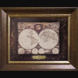 Карта кожаная NOVA TOTIUS TERRARUM ORBIS ( Jodocus HONDRUS)
