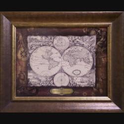 Карта кожаная NOVA TOTIUS TERRARUM ORBIS (joan BLAEU)
