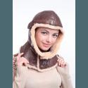 """Шлем """"Летный 30-х гг"""" коричневый"""
