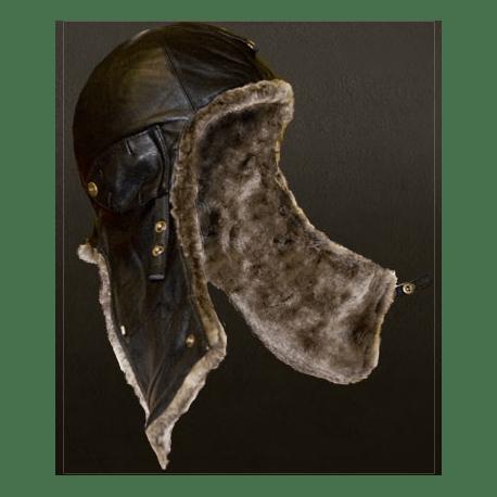 """Шлем """"Летный 30-х гг"""" цвет черный/серый"""