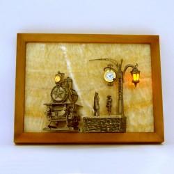 """Картина из оникса """"Поезд"""" с подсветкой"""