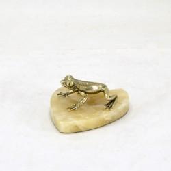 """Статуэтка """"Тропическая лягушка"""" на подставке"""