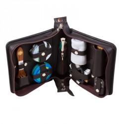 Несессер дорожный для ухода за обувью в сумке из натуральной кожи