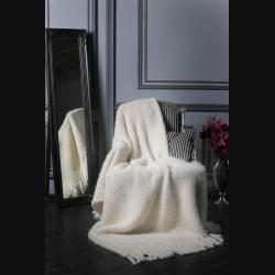 Покрывало из вязаной норки