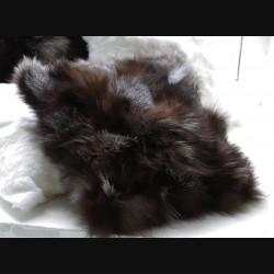 Подушка из меха чернобурки