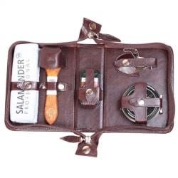 Несессер для ухода за обувью в сумке из натуральной кожи