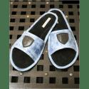 Тапочки кожаные голубые