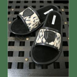 Тапочки кожаные леопардовые