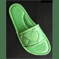 Тапочки кожаные салатовые