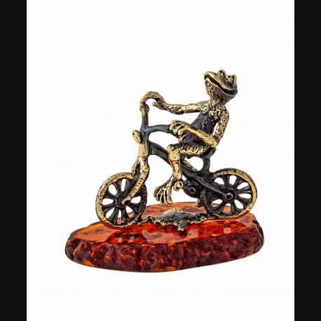 "Сувенир ""Лягушка на велосипеде"""