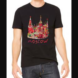 """Футболка """"Москва. Рисунок"""""""