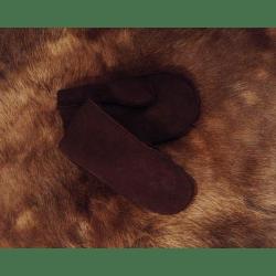 "Варежки мужские ""Овчина"" темно коричневый"